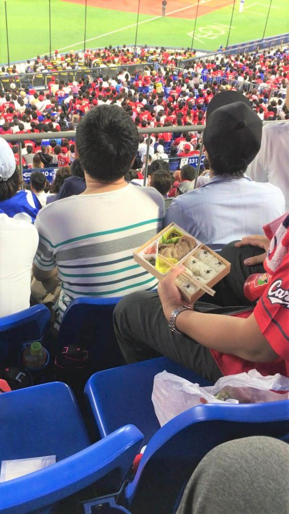 Bento box baseball in Japan