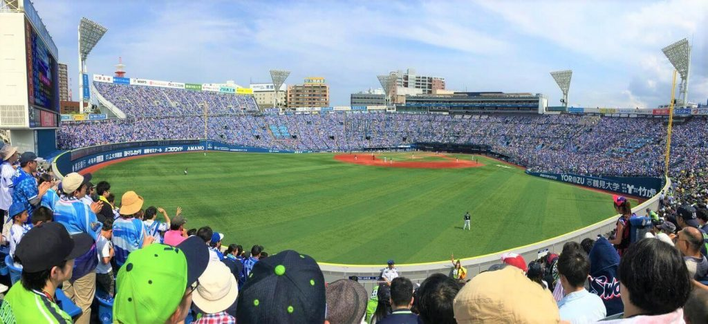 Baseball stadium in Japan