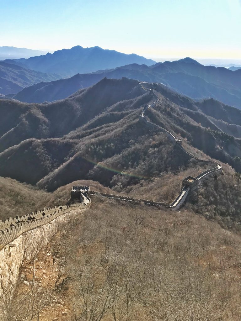 Great Wall of China mountains