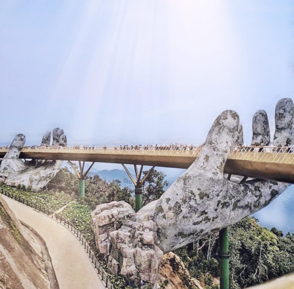 Golden Bridge Ba Na Hills Vietnam