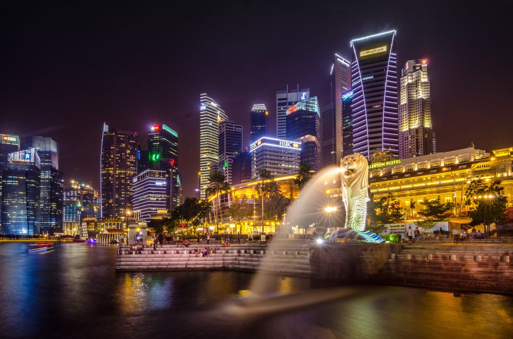 Layover in Singapore at Night