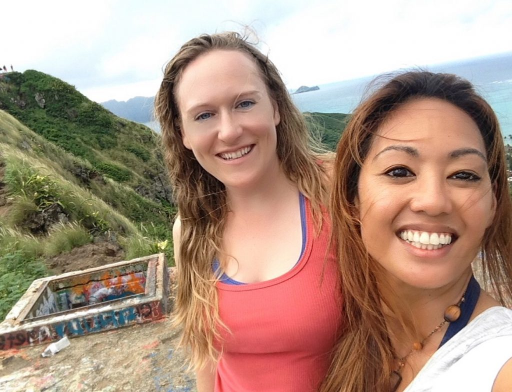 Sarah Emery and Ronda Gregorio in Hawaii